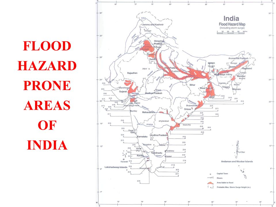 FLOOD HAZARD PRONE AREAS OF INDIA