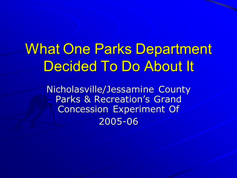 What One Parks Department Decided To Do About It