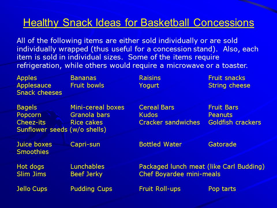 Healthy Snack Ideas for Basketball Concessions