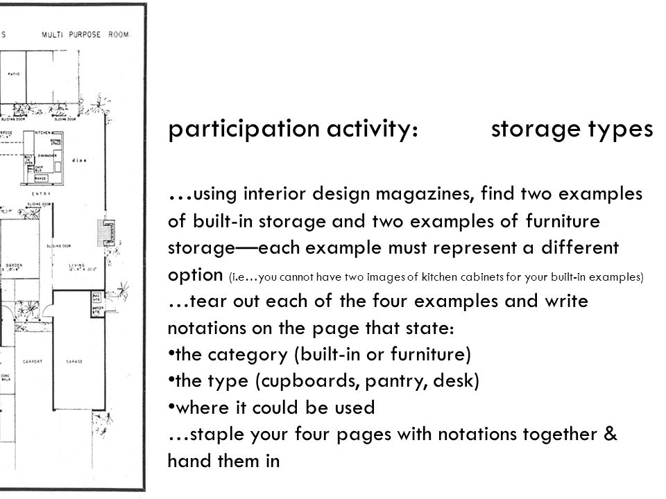 participation activity: storage types