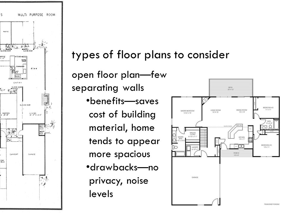 types of floor plans to consider