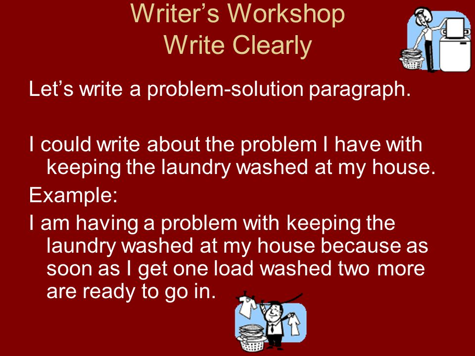 Writer's Workshop Write Clearly