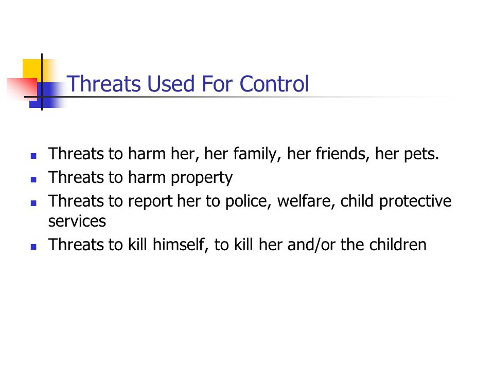 Threats Used For Control