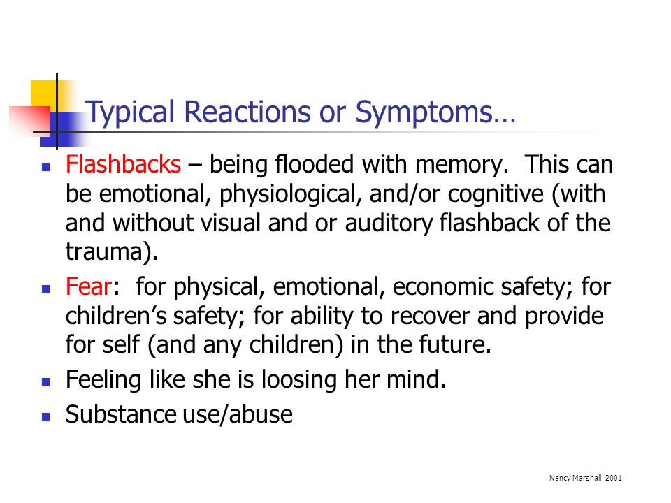 Typical Reactions or Symptoms…