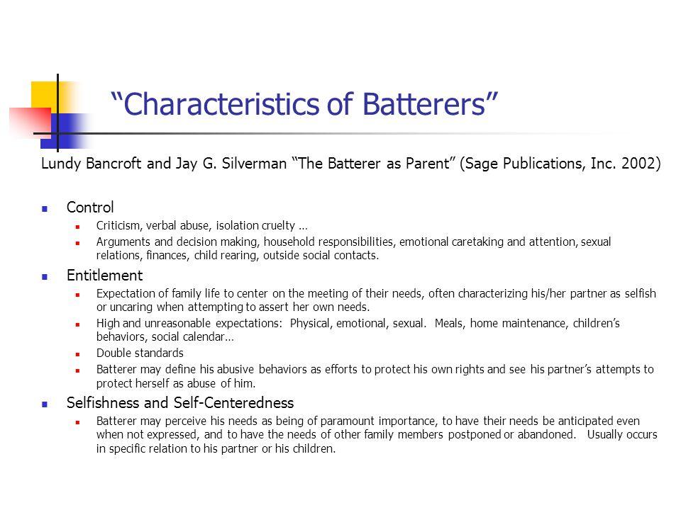 Characteristics of Batterers