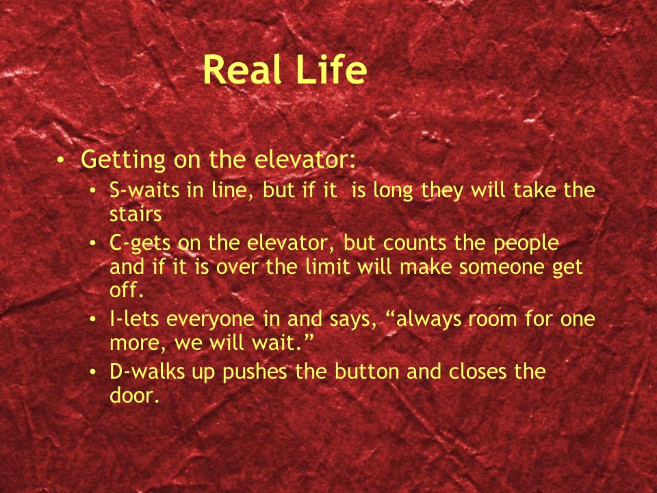Real Life Getting on the elevator: