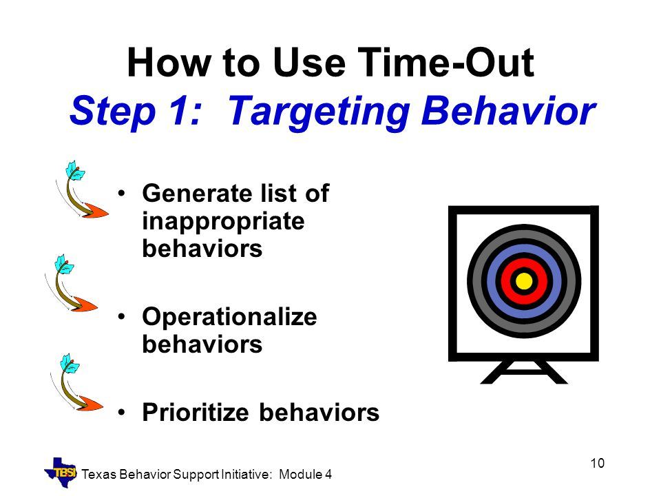 How to Use Time-Out Step 1: Targeting Behavior