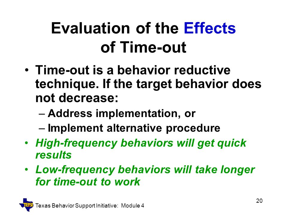 Evaluation of the Effects of Time-out
