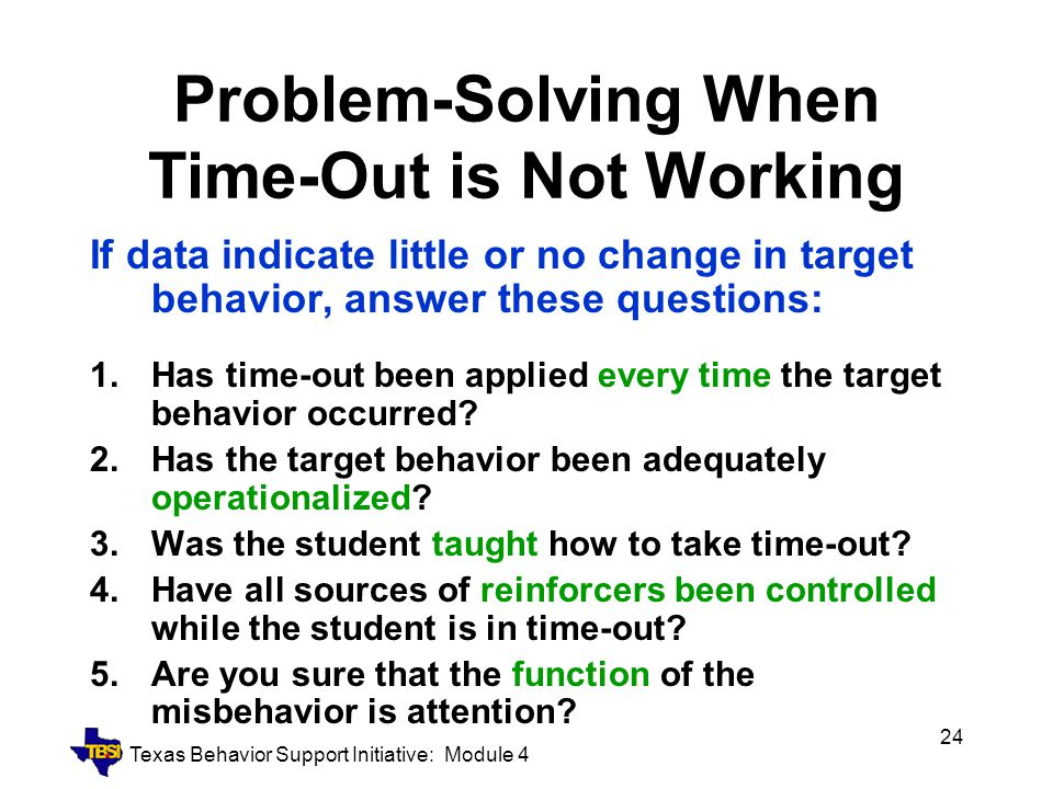 Problem-Solving When Time-Out is Not Working