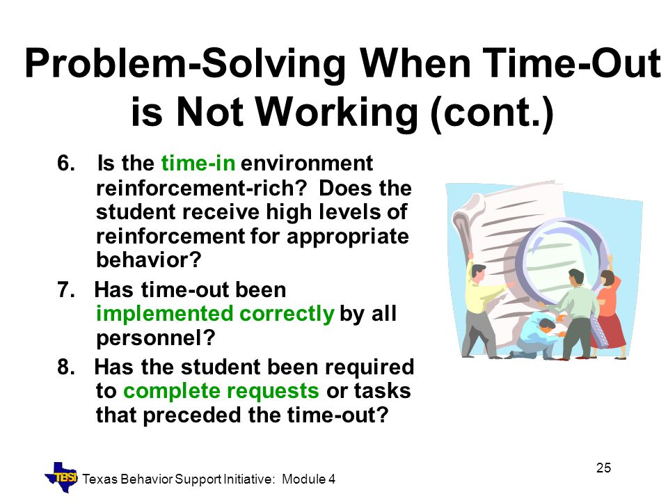 Problem-Solving When Time-Out is Not Working (cont.)