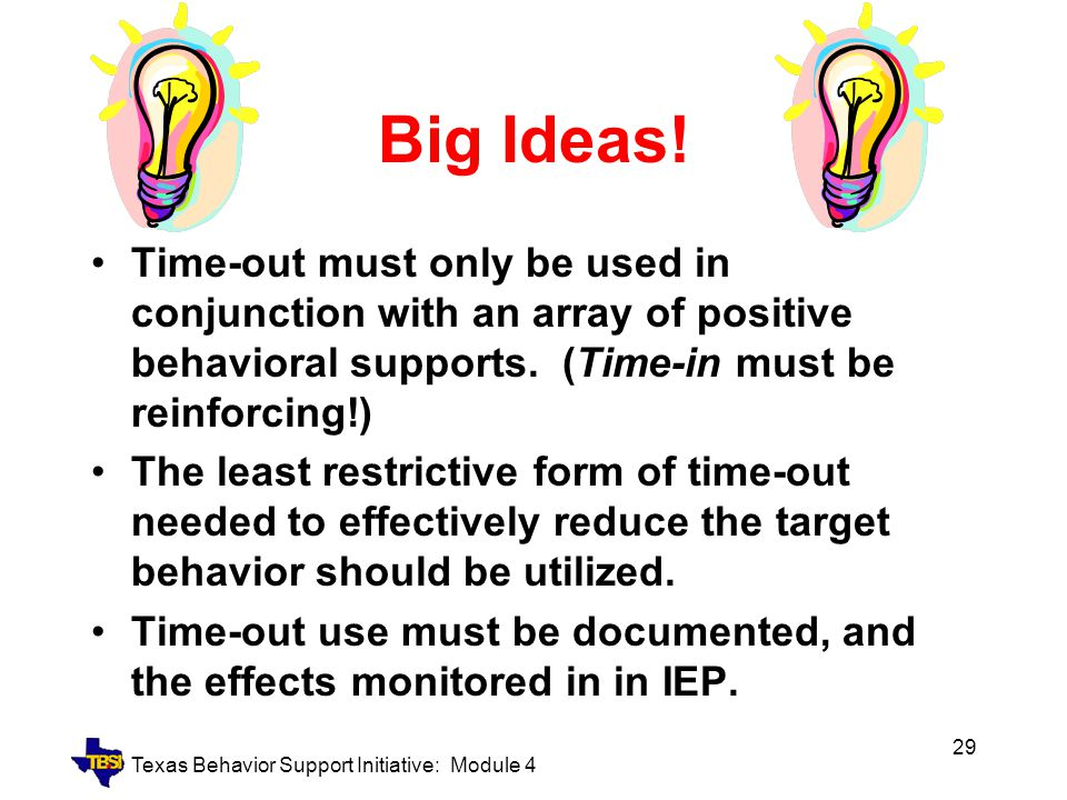 Texas Behavior Support Initiative: Module 4