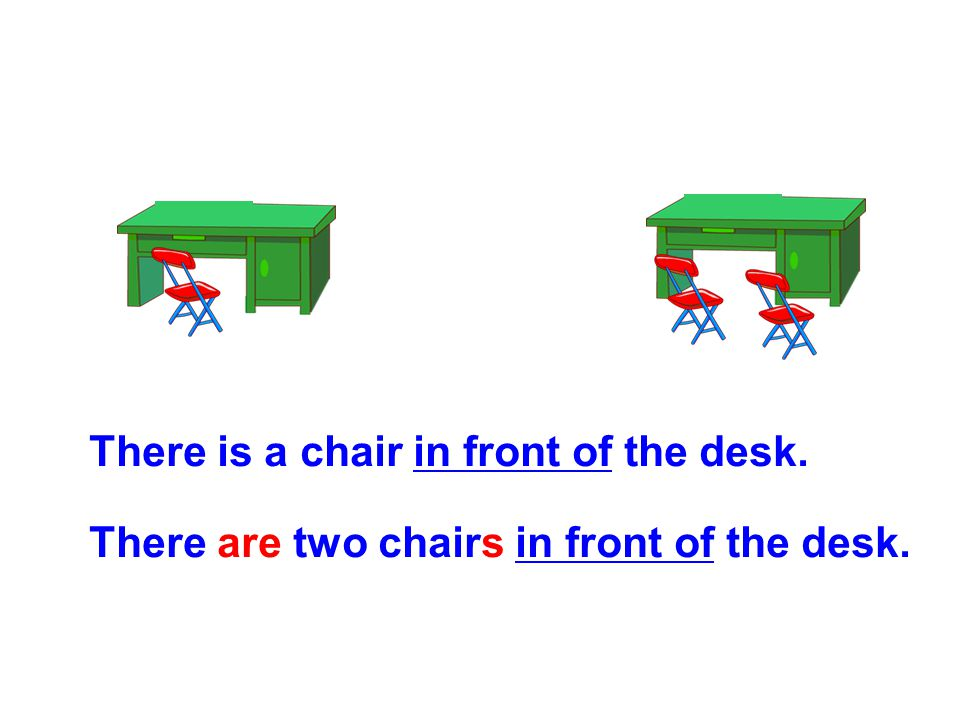 There is a chair in front of the desk.