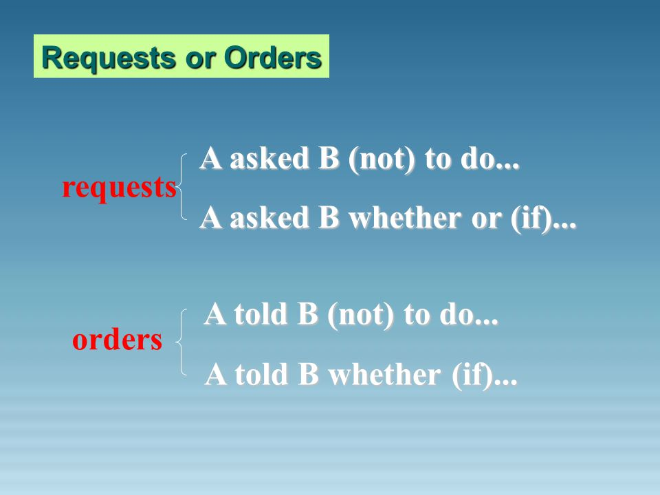 A asked B whether or (if)...