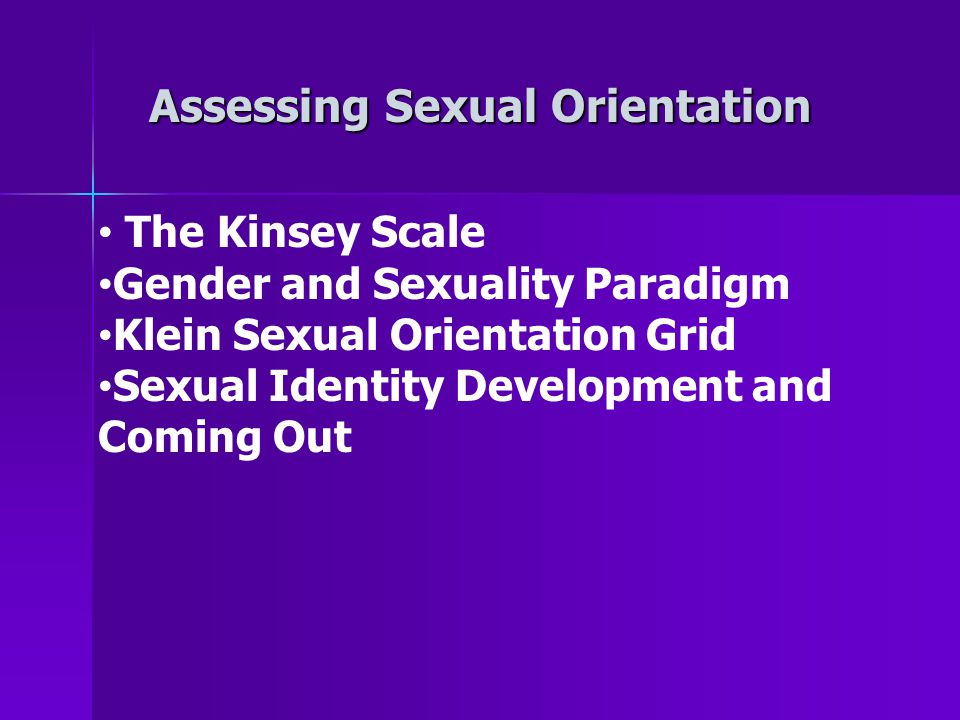 Assessing Sexual Orientation