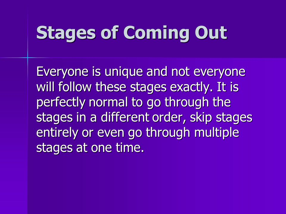 Stages of Coming Out