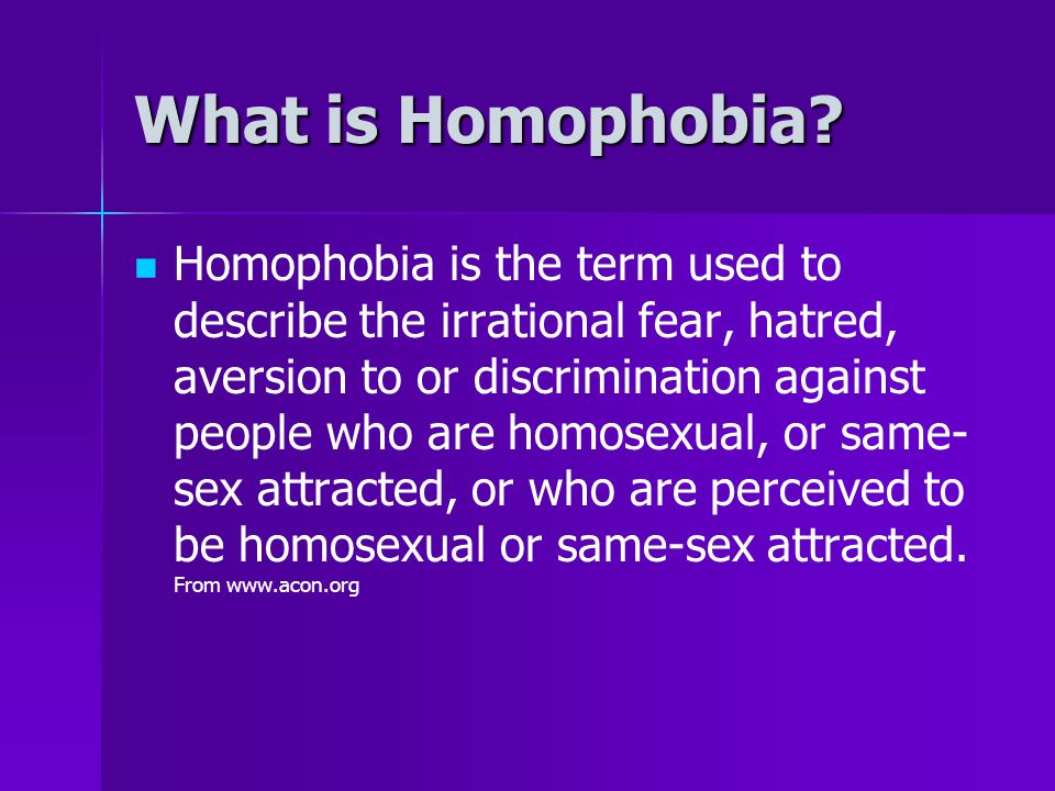 What is Homophobia