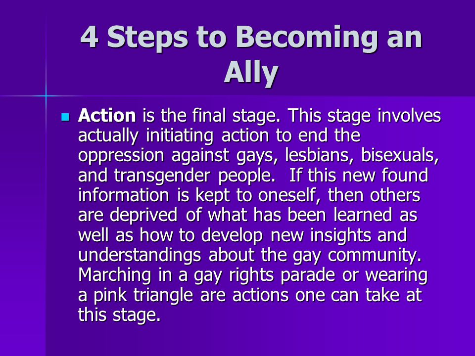 4 Steps to Becoming an Ally