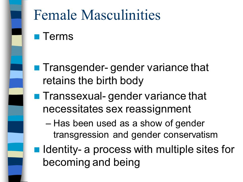 Female Masculinities Terms