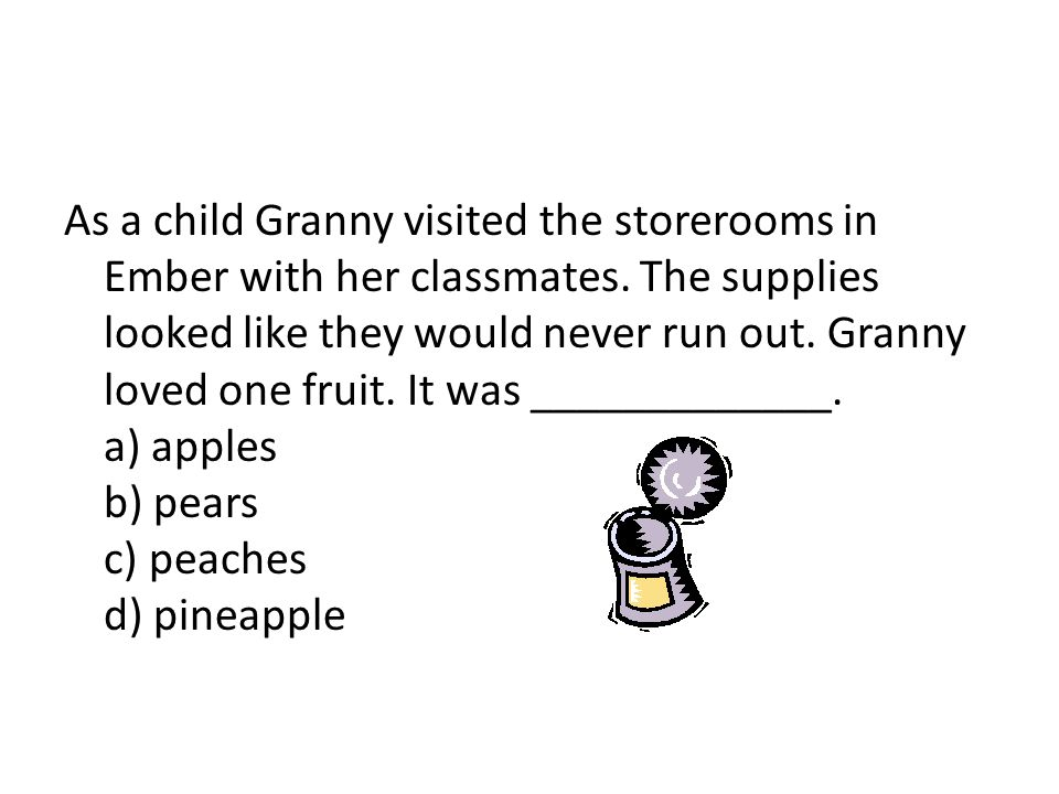 As a child Granny visited the storerooms in Ember with her classmates