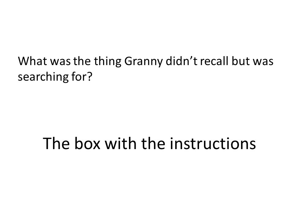 The box with the instructions