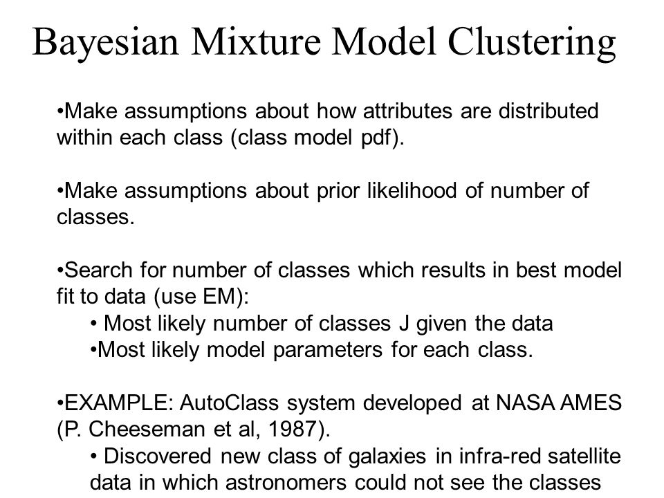 Bayesian Mixture Model Clustering