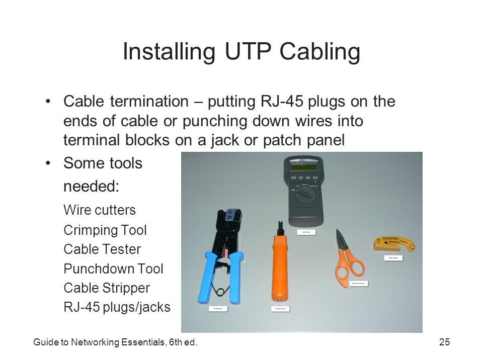 Installing UTP Cabling