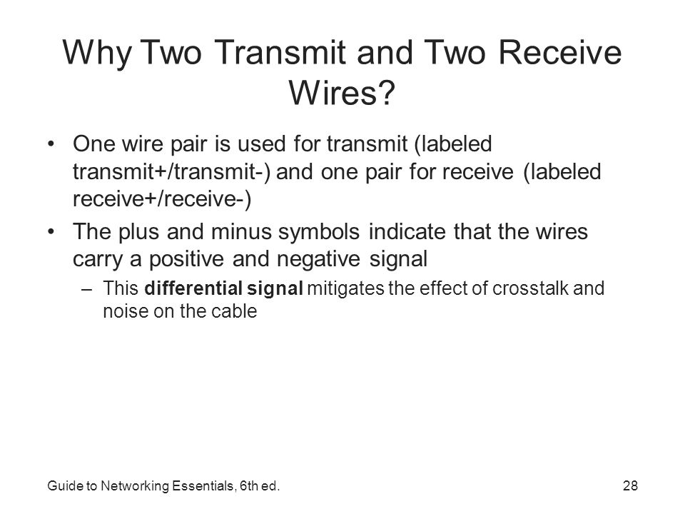 Why Two Transmit and Two Receive Wires