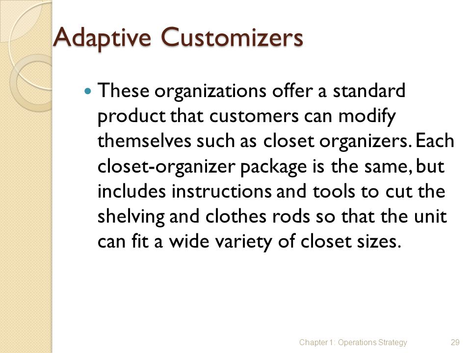 Adaptive Customizers