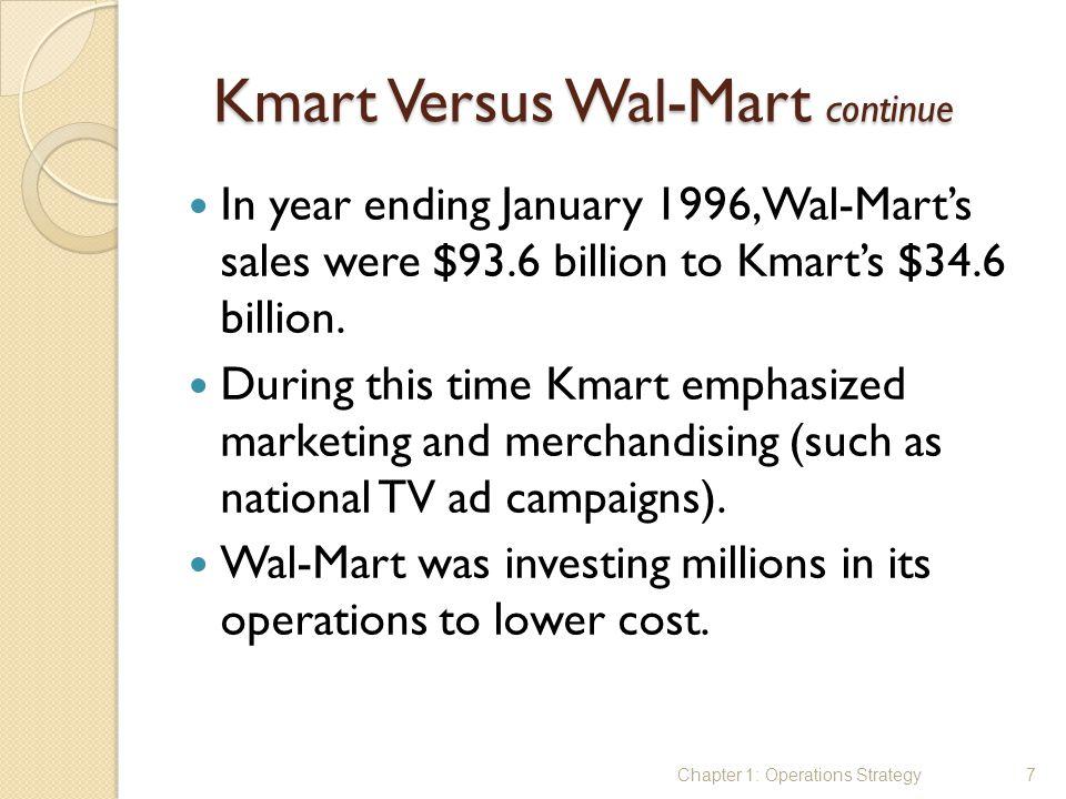 Kmart Versus Wal-Mart continue