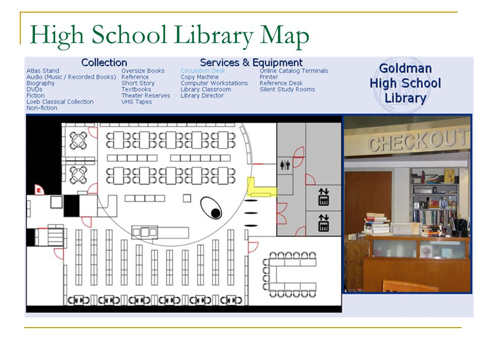 High School Library Map