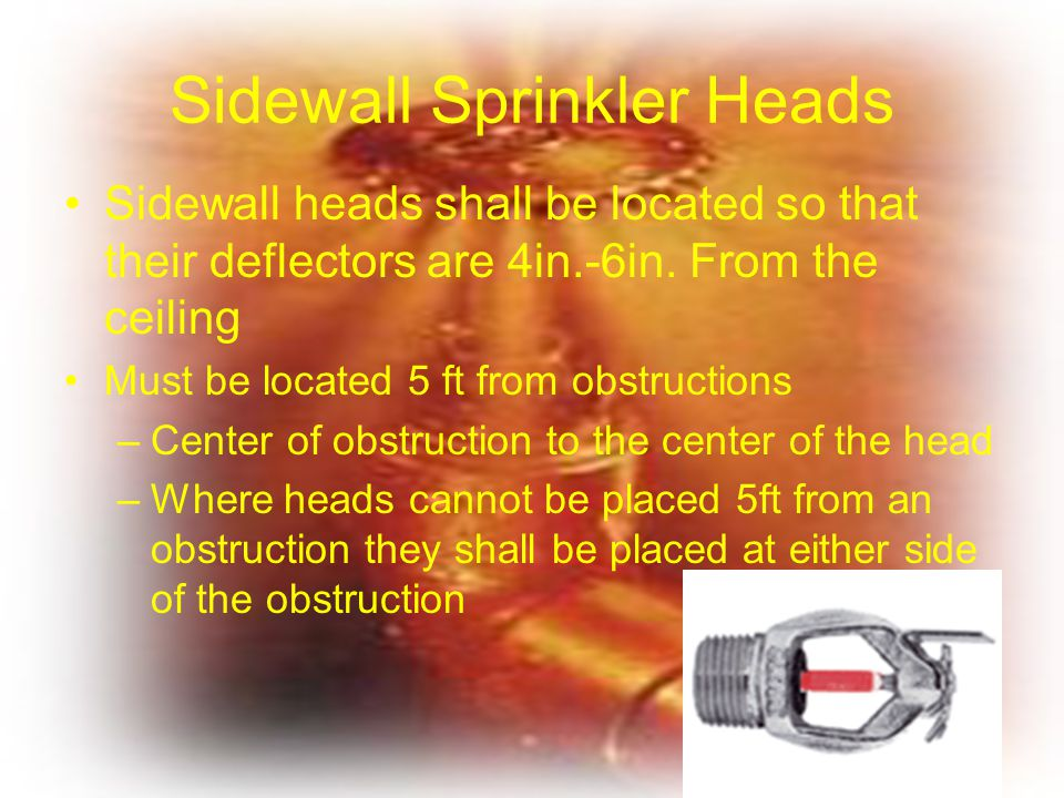 Sidewall Sprinkler Heads