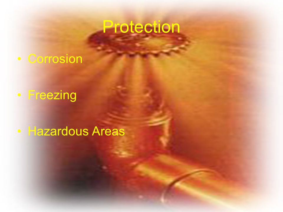 Protection Corrosion Freezing Hazardous Areas