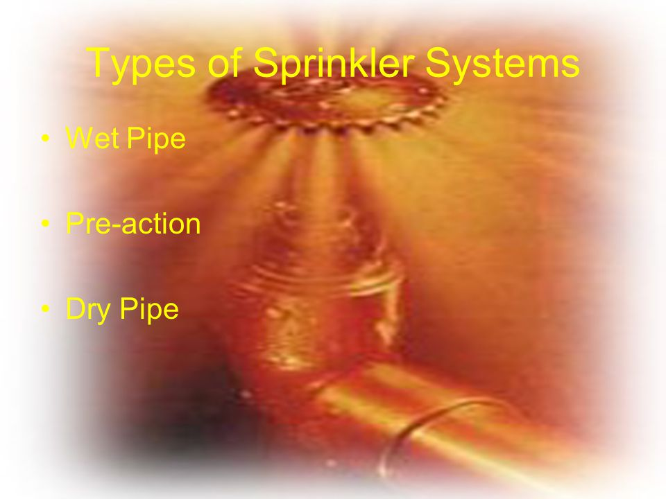 Types of Sprinkler Systems