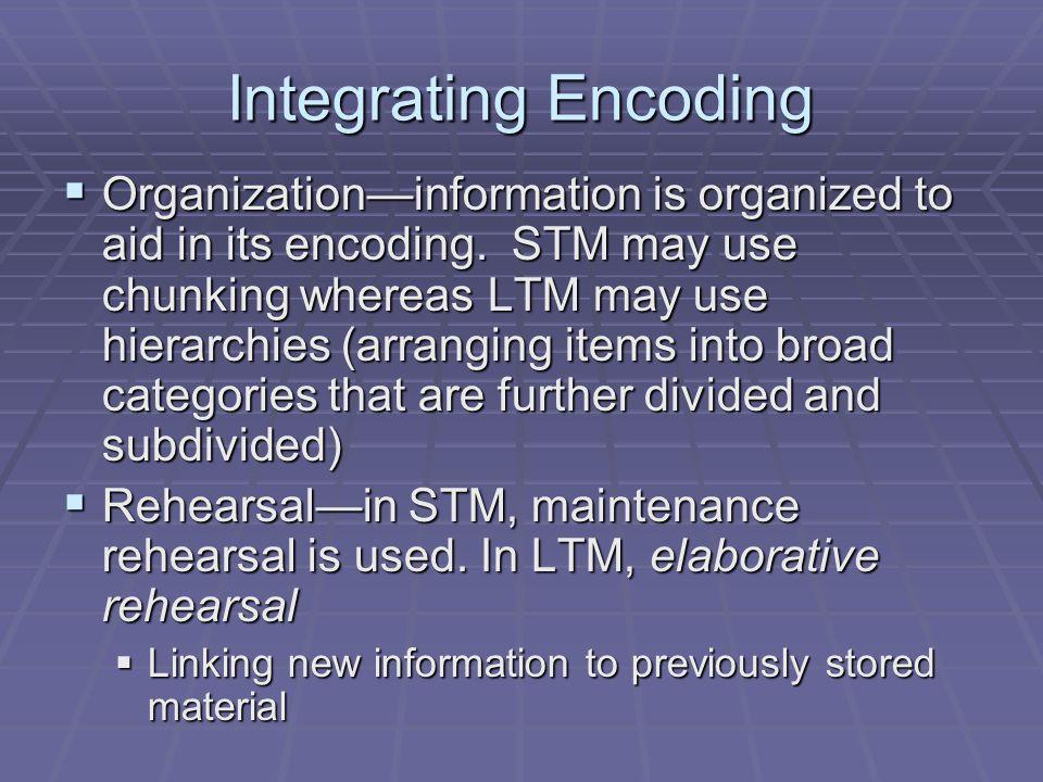 Integrating Encoding