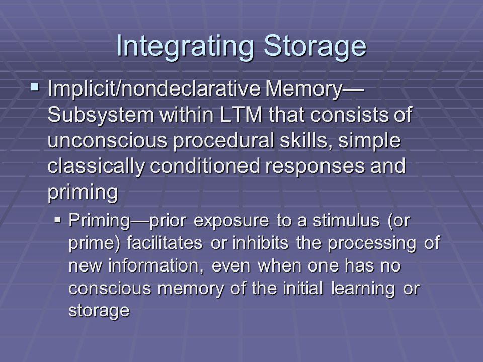 Integrating Storage