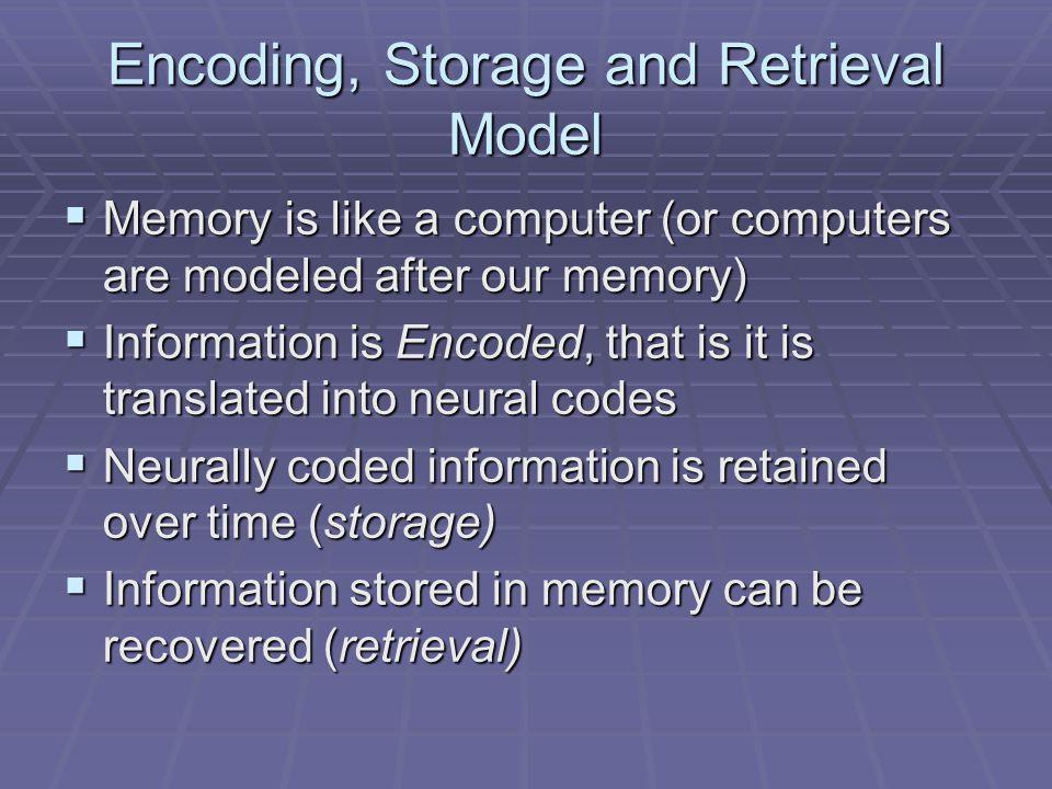 Encoding, Storage and Retrieval Model
