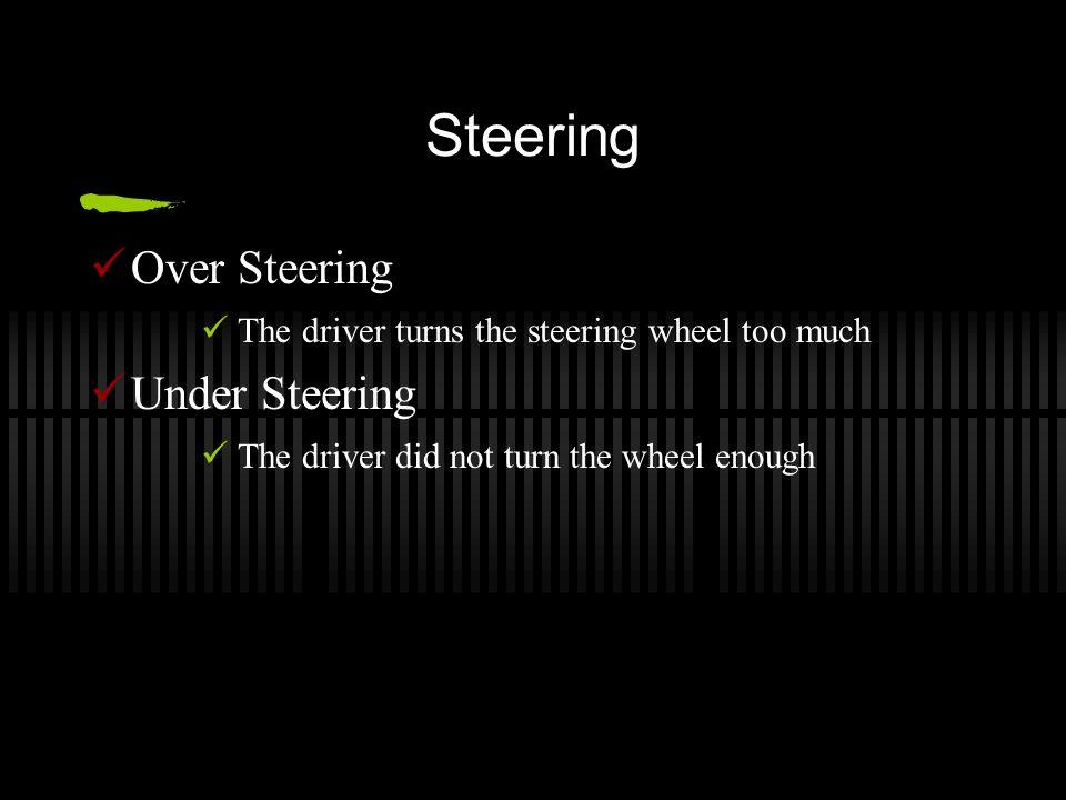 Steering Over Steering Under Steering