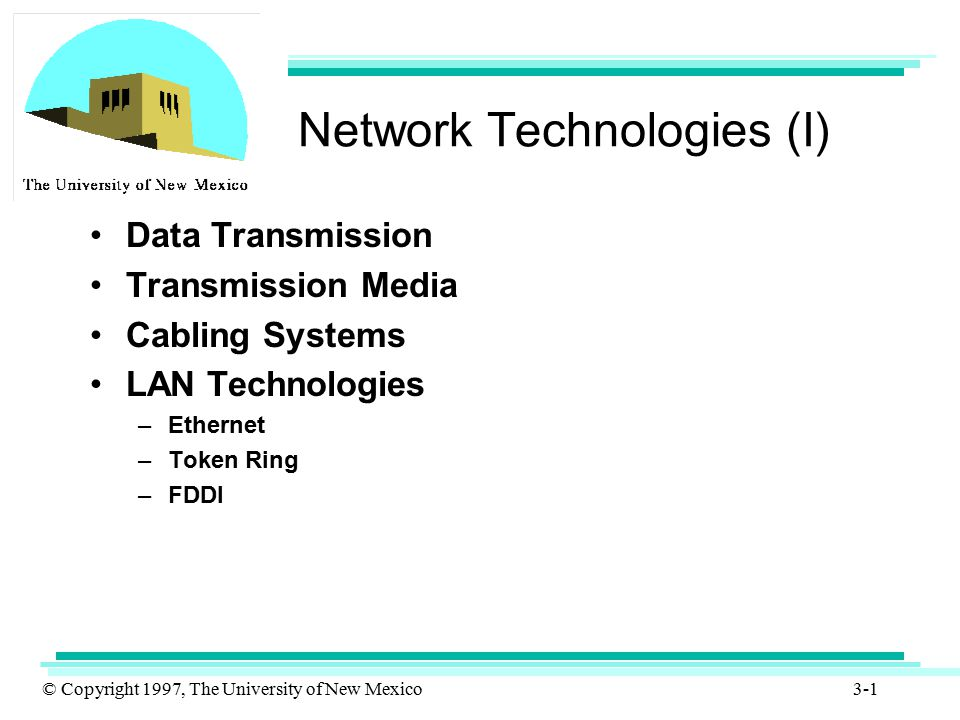 Network Technologies (I)