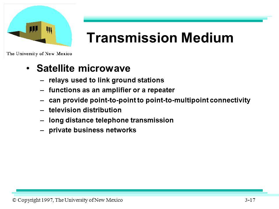 Transmission Medium Satellite microwave