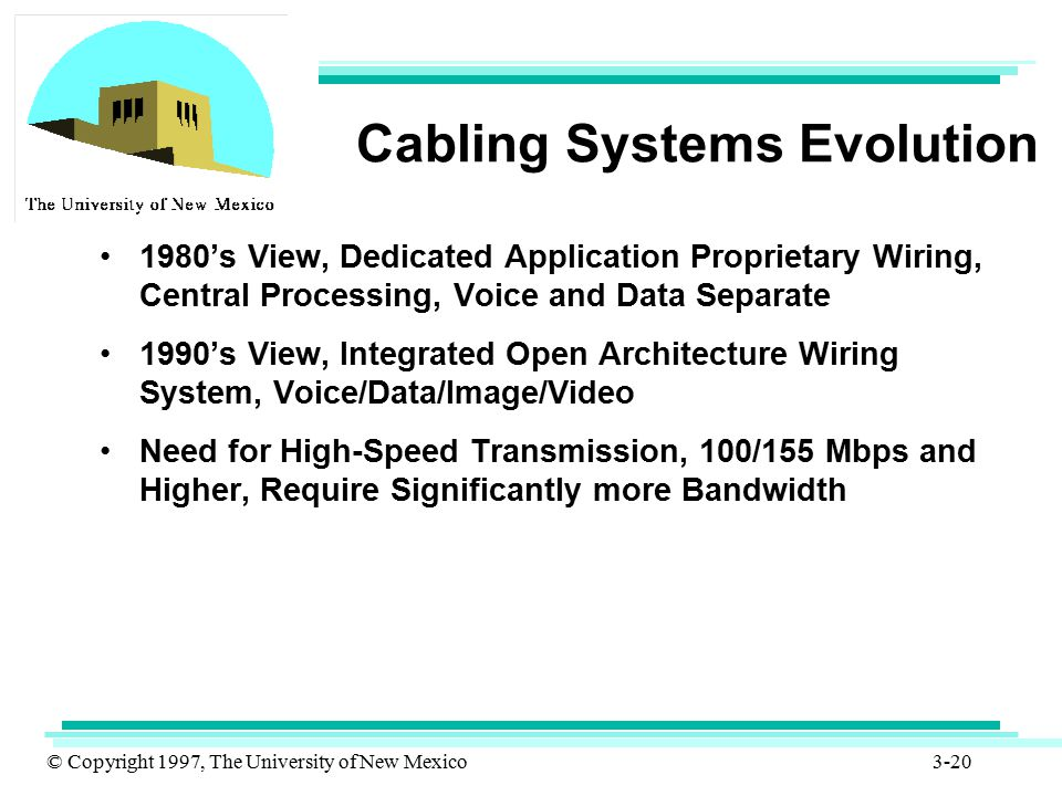 Cabling Systems Evolution