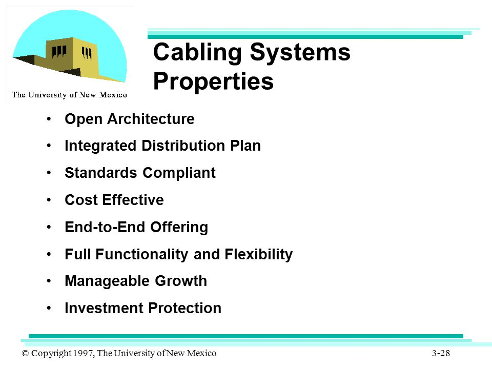 Cabling Systems Properties