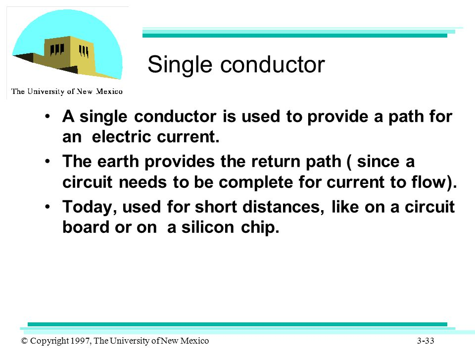 Single conductor A single conductor is used to provide a path for an electric current.