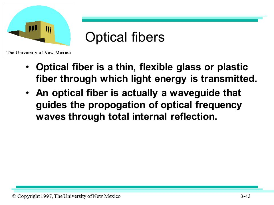 Optical fibers Optical fiber is a thin, flexible glass or plastic fiber through which light energy is transmitted.