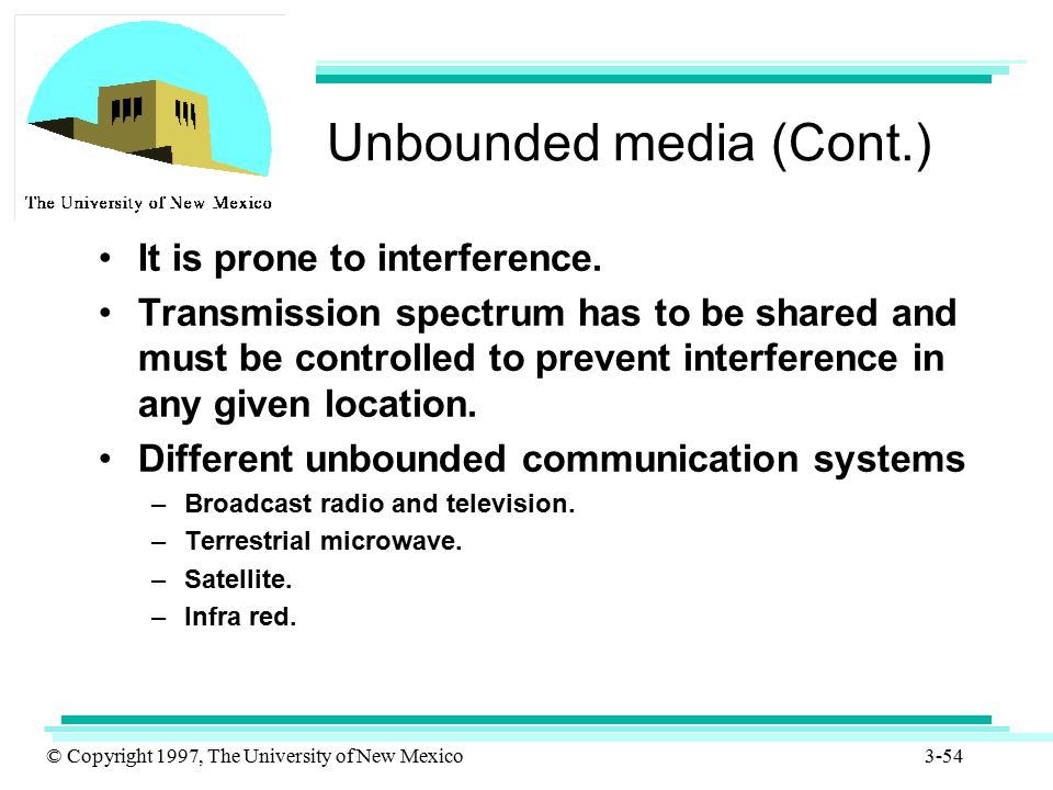 Unbounded media (Cont.)