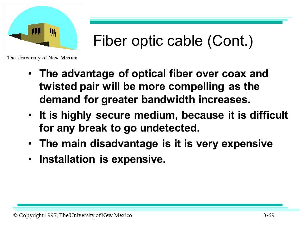 Fiber optic cable (Cont.)