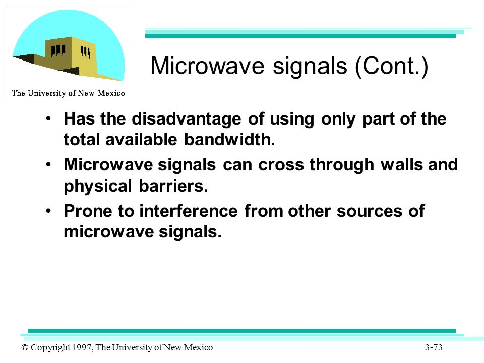 Microwave signals (Cont.)