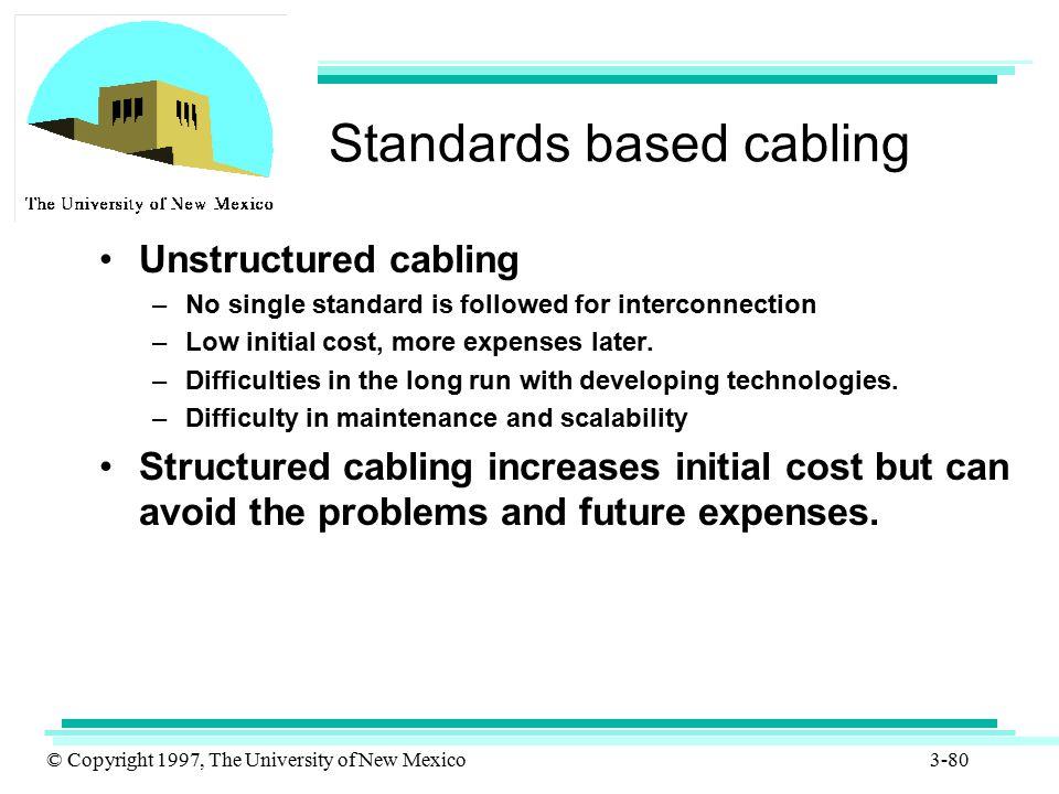 Standards based cabling
