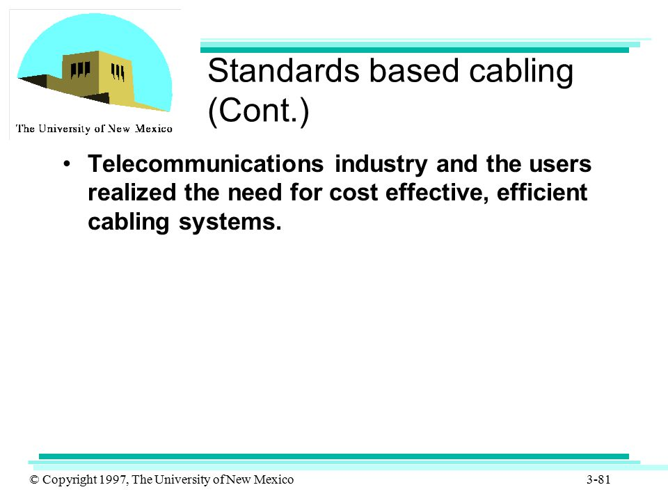 Standards based cabling (Cont.)