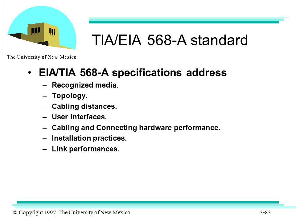TIA/EIA 568-A standard EIA/TIA 568-A specifications address