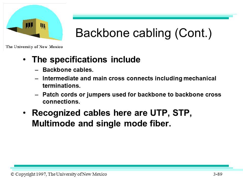 Backbone cabling (Cont.)